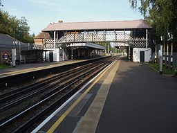 Ruislip station look east