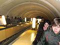 Russia Moscow Metro Novokuzneckaja escalator.jpg