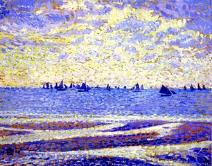 Sailboats on the Sea