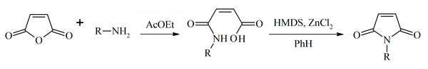 Synthetic sequence of maleimides synthesis