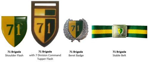 SADF era 71 Brigade insignia
