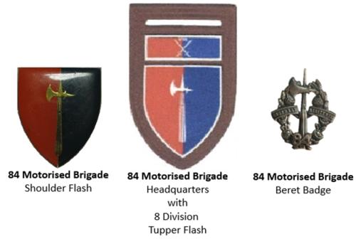SADF era 84 Motorized Brigade insignia