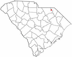 Cheraw, South Carolina - Image: SC Map doton Cheraw