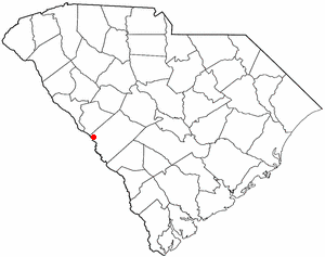 North Augusta, South Carolina - Image: SC Map doton North Augusta