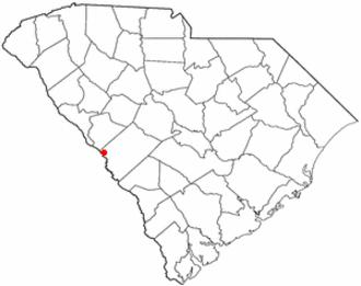 North Augusta, South Carolina - Image: SC Map doton North Augusta