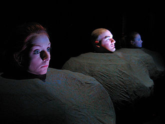 Southwest Minnesota State University - Theatre students in a production of 'Play' by Samuel Beckett
