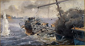 Action of 10 March 1917 - The sinking of SS Otaki by SMS Möwe.