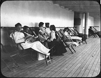SS Trent - Passengers aboard SS Trent in 1902