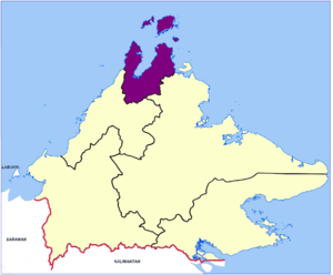 Kudat Division - Location map of the Kudat Division.