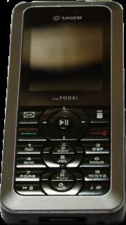 Mobile Sagem sorti en 2006 pour exemple