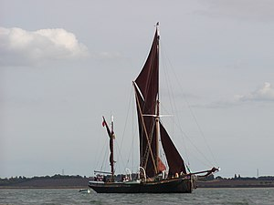 Sailing Barge Thalatta in the River Blackwater