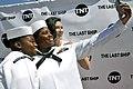 Sailors take a photo with actress Bridget Regan of TNT's television series The Last Ship. (35763666150).jpg