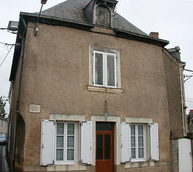 Native house of the painter Constant Le Breton in Saint-Germain-des-Prés, Maine-et-Loire
