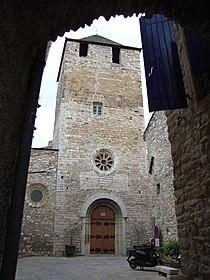 Saint-Jean-de-Fos (Hérault, Fr) tour de l'église.JPG