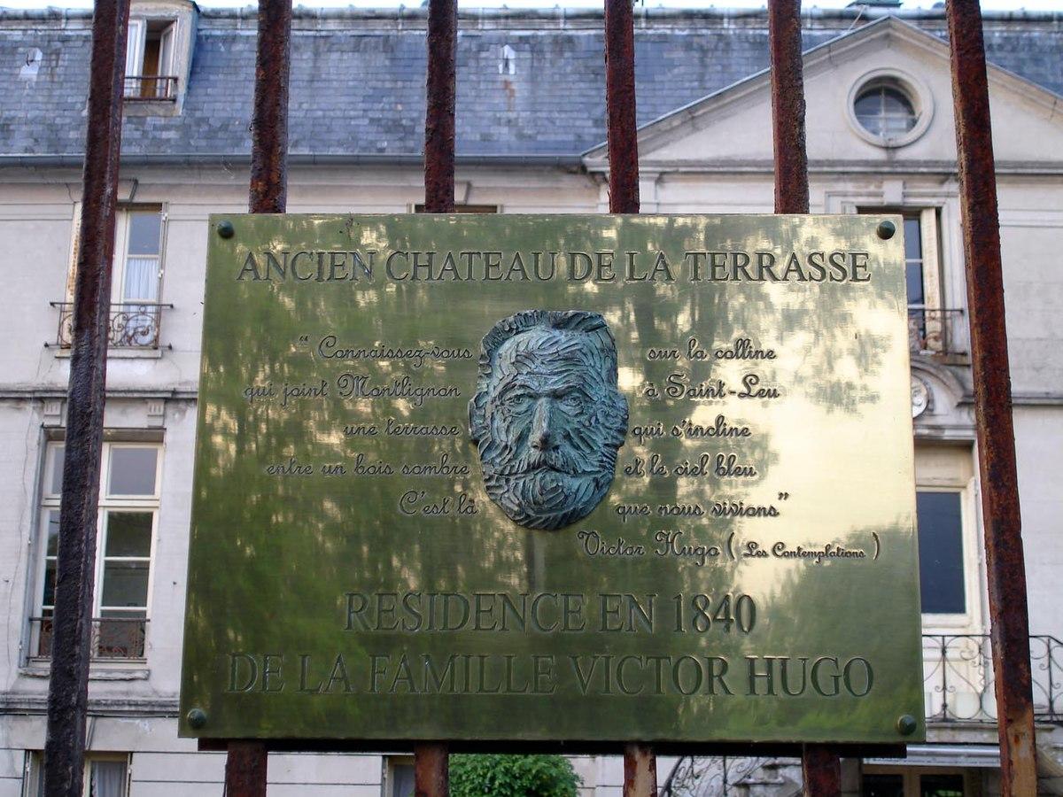 Terrasse En Bois Oise file:saint-prix - chateau de la terrasse - plaque victor