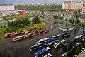 Saint Petersburg. Trams and trolleybuses stop near the crossing of Nalichnaya St. and Korablestroiteley St.jpg