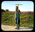 Saint Petersburg man with a rake, near Leningrad.jpg