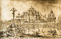 Saint Sophia Cathedral in Kiev in 1651 by Abraham Evertsz. van Westerveld.PNG