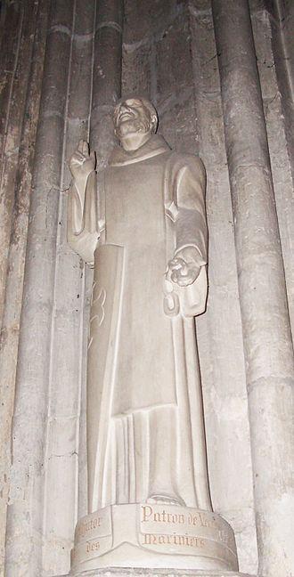 Adjutor - Statue of St Adjutor at the collegiate church of Vernon, Eure