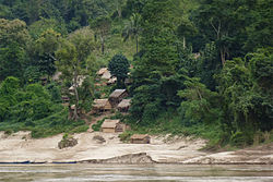 Village on the Mekong
