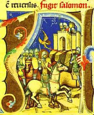 Géza I of Hungary - Géza's brother, Duke Ladislaus besieges their dethroned cousin Solomon in Pressburg (present-day Bratislava, Slovakia)