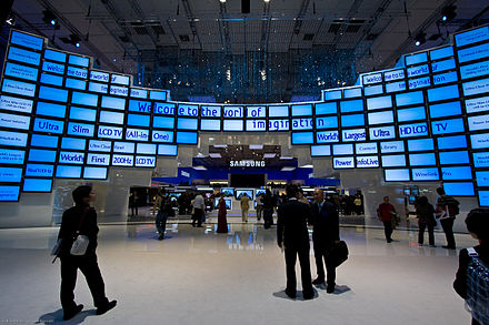 The Samsung display at the 2008 Internationale Funkausstellung in Berlin Samsung IFA Berlin 2008.jpg
