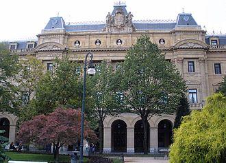 Basque Economic Agreement - Chartered Council of Gipuzkoa in central Donostia (Gipuzkoako Foru Aldundia in Basque, 1887)