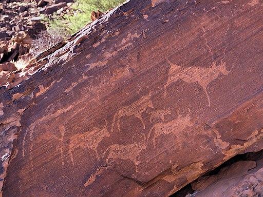 San rock art - Namibia