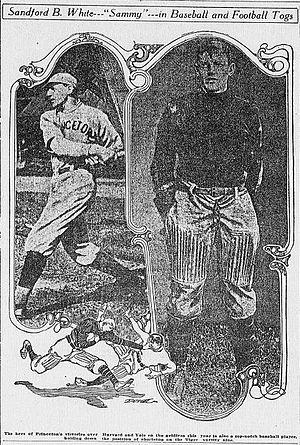 Sanford White - Image: Sandford white baseball and football