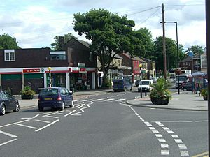 Crosspool - The shops at the junction of Sandygate Road and Manchester Road are regarded as the centre of Crosspool.