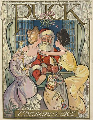 English: Santa Claus as illustrated in , v. 52...