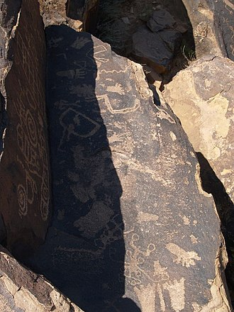 St. George, Utah - Several hundred petroglyphs are visible on the Tempi'po'op Trail in the Santa Clara Reserve