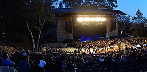 Santa Barbara Bowl - The venue before a concert in 2013.