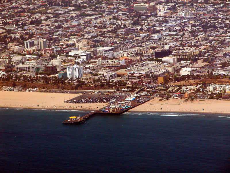 File:Santa Monica beach and pier.jpg