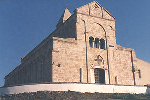Santa Giusta - view of Santa Giusta Cathedral