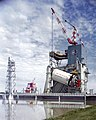 Saturn V, S-II Stage is Lifted into Test Stand - GPN-2000-000540.jpg