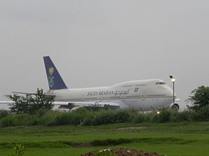 Allama Iqbal International Airport - Saudia Boeing 747