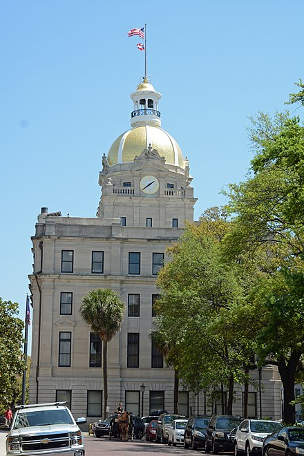 A different view of City Hall Savannah, Georgia, US City Hall.JPG