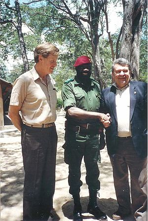 Foreign policy of the Ronald Reagan administration - Jonas Savimbi meeting the European Parliament deputies in 1989