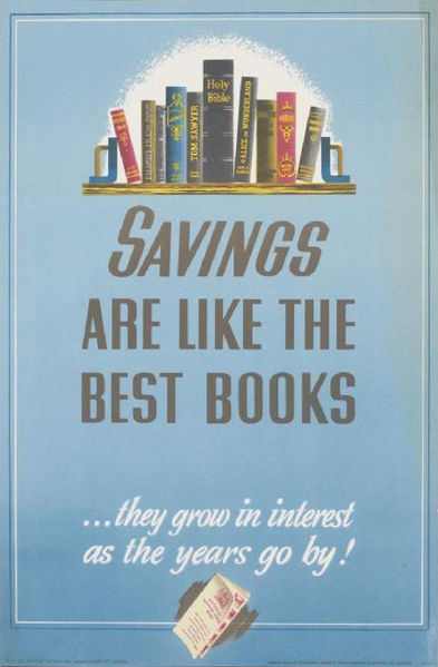 File:Savings Are Like the Best Books Art.IWMPST16392.jpg