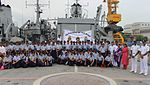 School Children visit onboard INS Darshak on the occasion of 2016 World Hydrography Day (2).jpg