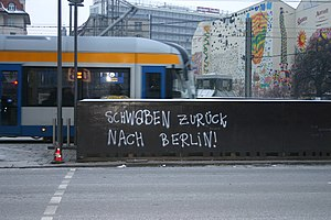 Swabians - Schwaben, Go home to Berlin, Leipzig graffiti