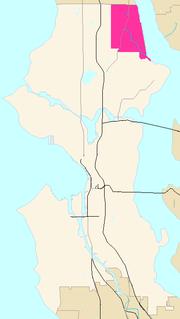 Lake City, Seattle region of Seattle, Washington, USA