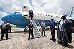 Secretary Kerry Deplanes His Flight at Nnamdi Azikiwe International Airport in Abuja (29072194472).jpg