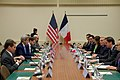 Secretary Kerry and French Foreign Minister Jean- Marc Ayrault Attend a Bilateral Meeting as They Both Attend NATO (31446128386).jpg