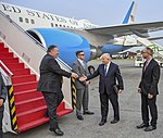 Secretary Michael R. Pompeo arrives at the Jakarta Airport (42031931680) (cropped).jpg