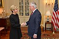 Secretary Tillerson Greets Australian Foreign Minister Bishop Before Their Meeting in Washington (32208467864).jpg
