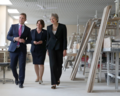 Secretary of State Karen Bradley was joined by Prime Minister Theresa May and DUP Leader Arlene Foster on a visit to Belleek Pottery (43525123521).png