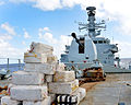 Seized Drug Bales on the Deck of HMS Argyll in the Caribbean MOD 45158290.jpg