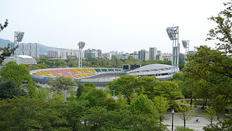 Cycling at the 1988 Summer Olympics - Image: Seoul Olympic Velodrome